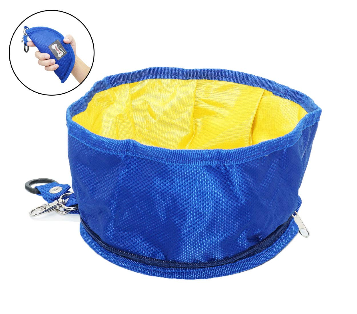 Portable Dog Bowl Travel for Food and Water,Large Collapsible Dog Bowl 38ounce Water Cup Dish,Foldable Pet Bowl Suitable for  Mountain Climbing Hiking Camping(Blue)
