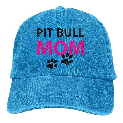 longkouishilong Gorras béisbol Trucker Baseball Hat Pit Bull Mom Polo Cowboys Caps Unisex