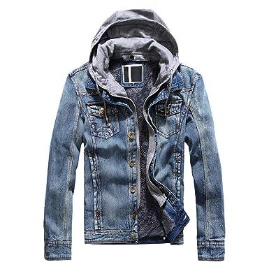 buy online 0750d 354e2 Targogo Cappotto Invernale Da Uomo Cappotto Di Jeans ...