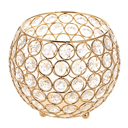 Incredible Manchda Valentines Gift Gold Crystal Bowl Votive Candle Holders Fireplace Candelabra For Coffee Table Centerpieces Anniversary Celebration Modern Home Download Free Architecture Designs Grimeyleaguecom