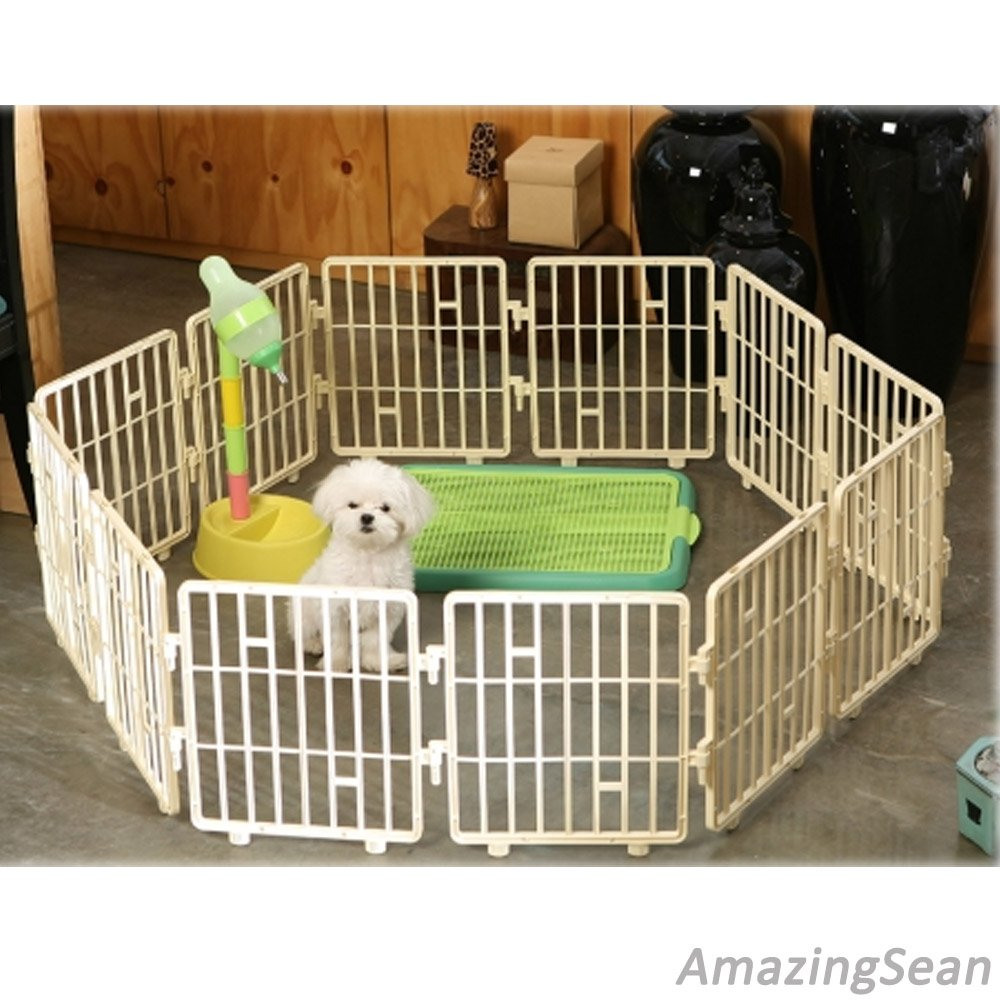 Ivory 8 Panel Ivory 8 Panel Pet Playpen Plastic Panel, 15  Panel, Dog Fence, Cat Exercise Pens, Kennel, Cat Fence Panel (8 Panel, Ivory)