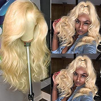 Hair Extensions & Wigs 613 Honey Blonde Lace Front Wig Pre Plucked With Baby Hair Transparent 613 Glueless Lace Front Wig For Black Women Remy Hair