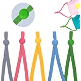 1/5 Inch Elastic Band for Masks,30pcs Elastic String for DIY Sewing with Adjustable Buckle,High Stretch Colored Adjustable Ea