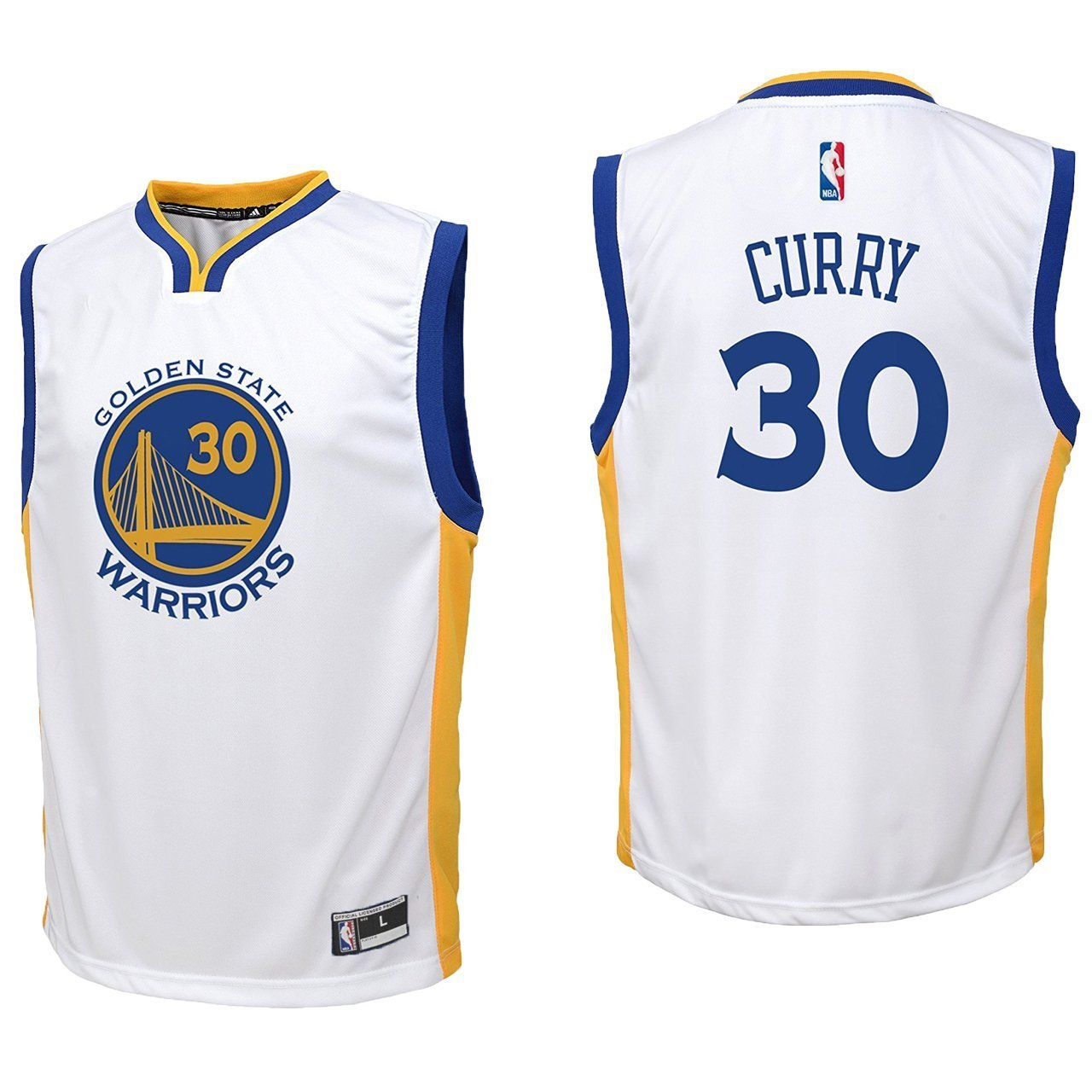 new concept a58cc 15852 Outerstuff Stephen Curry Golden State Warriors #30 Youth Home Replica Jersey
