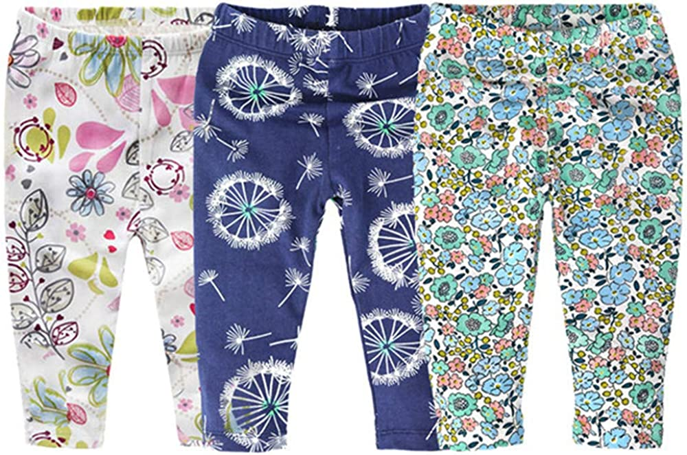 Colorfulhome Baby Boy Girl Pants Spring Summer Cotton Infant Leggings Newborn Boy Pants