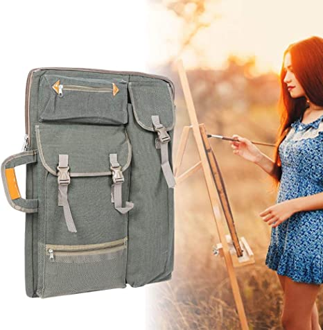 Artist Portfolio Carry Backpack Gray 4K Large Multiply Canvas Function 66 x 50CM Bag Outdoor Waterproof Sketch Board Bag for Drawing Sketching Painting