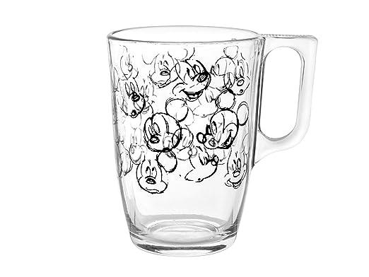 Cristal H /& H Mickey Heritage Disney tarro Transparente//Negro 10.5/x 21.5/cm