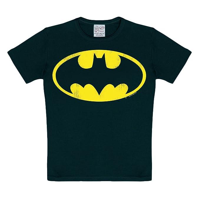 Batman - camiseta infantil con el símbolo del murciélago - con estampado  del logotipo 47215ee6fd5bf