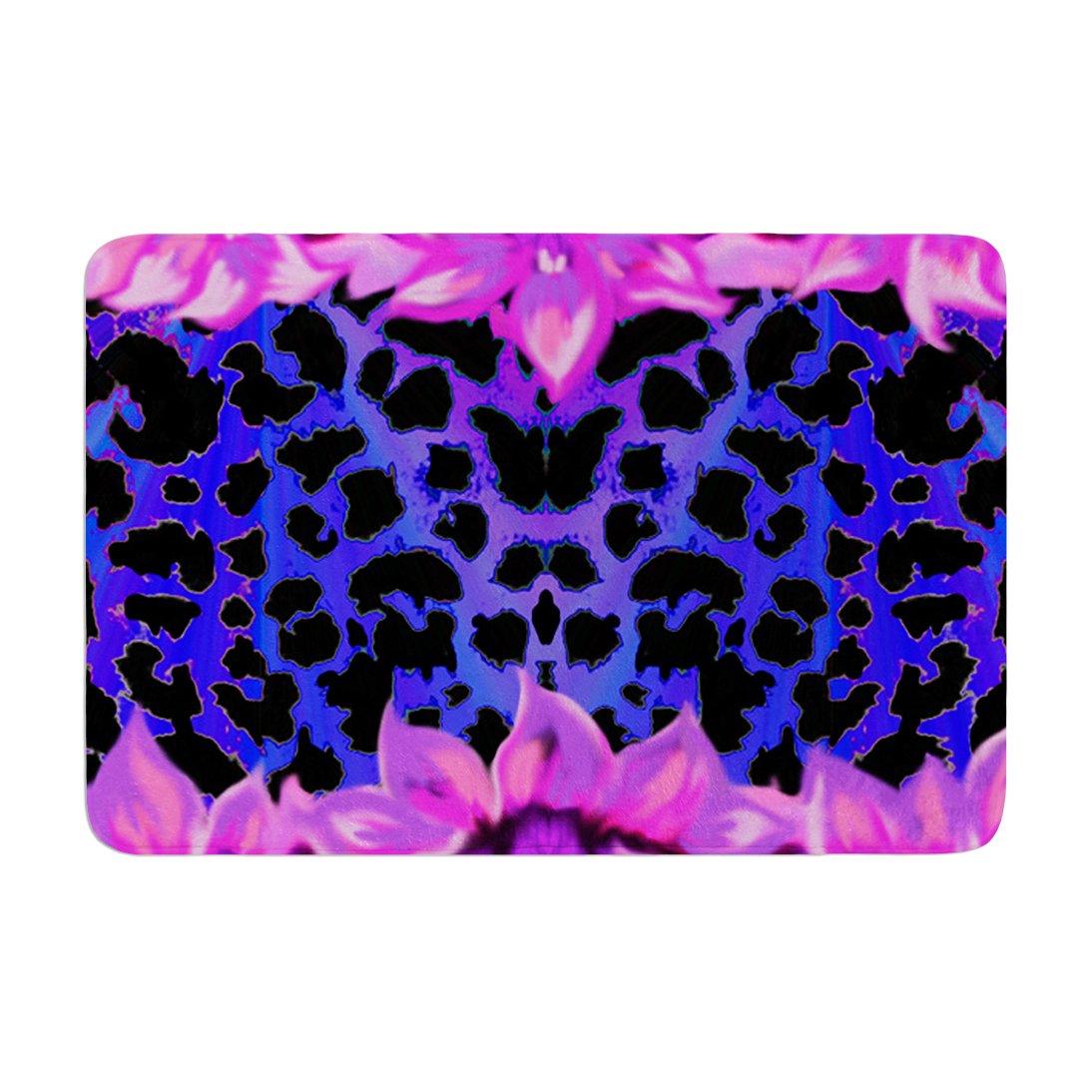 17 by 24 Kess InHouse Nina May Cerruda Leora Purple Pink Memory Foam Bath Mat