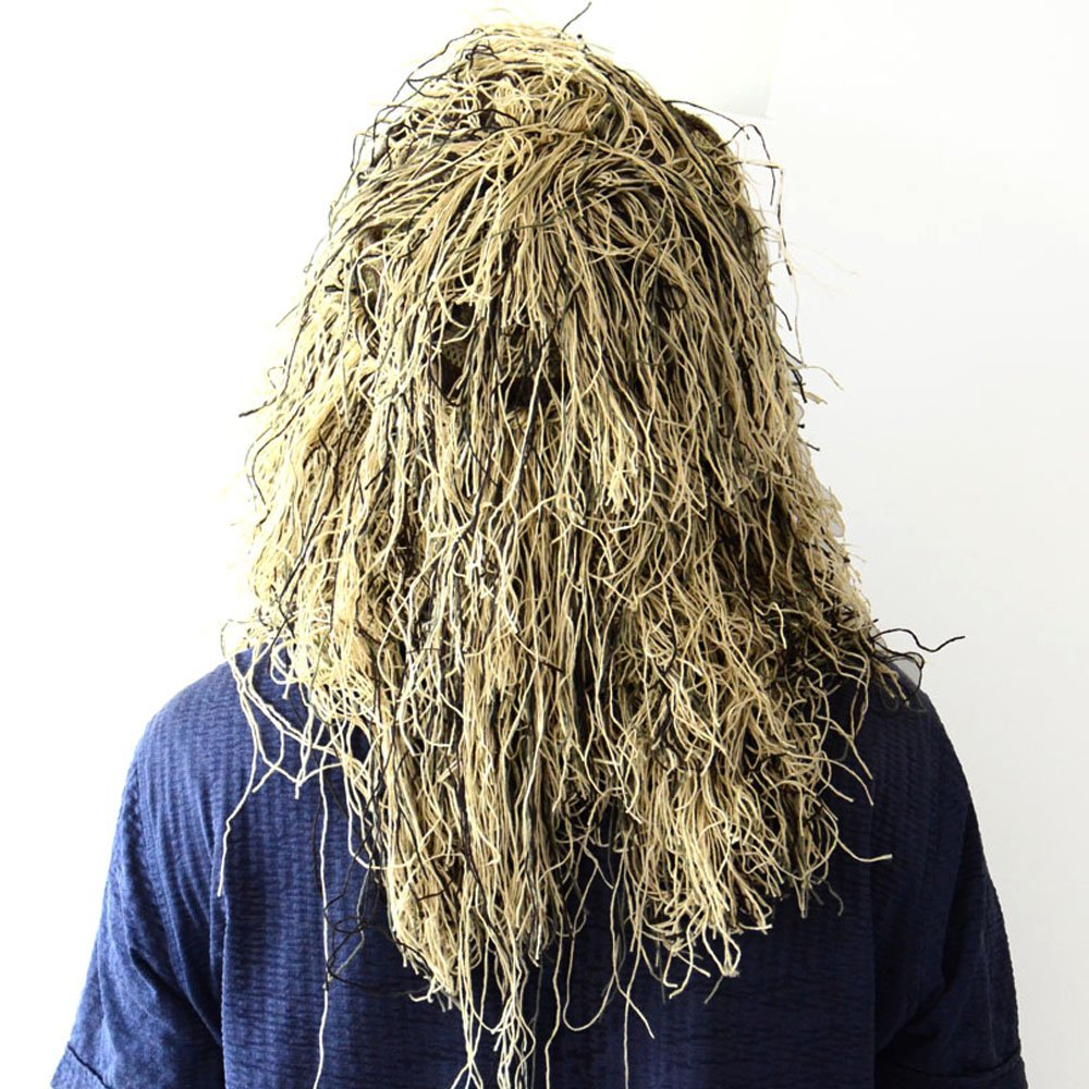 Caza Sombrero Camuflaje Ghillie Raje de Camuflaje Militar Ghillie Capucha Ghillie Suit Kit (Woodland) TTGTACTICAL