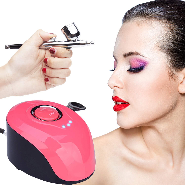 VOKPRO Airbrush Kit - 3 Modes Mini Airbrush Compressor Kit - ¼ oz Professional Paint Airbrush Kit with Mini Air Compressor for Nail Paint Tattoo Cake Decorating