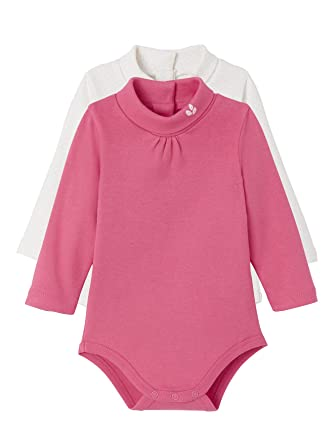 Vertbaudet Lot de 2 Bodies bébé col Montant Blanc a Pois rosé Fushia 6M -  67CM  Amazon.fr  Vêtements et accessoires 1768cb4e574