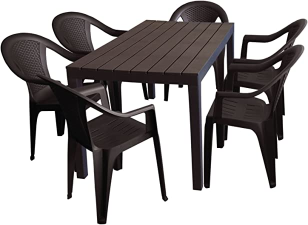 Mesa de camping Sumatra aspecto de madera de mesa en ...