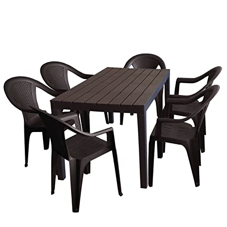 Tavolo E Sedie Da Giardino Plastica.7tlg Tavolo Da Giardino Salotto Da Giardino Sumatra