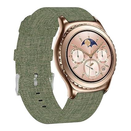 FUNKID Compatible para Smartwatch Pulseras Lona Tela Band 22mm ...