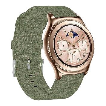 FUNKID Compatible para Smartwatch Pulseras Lona Tela Band ...