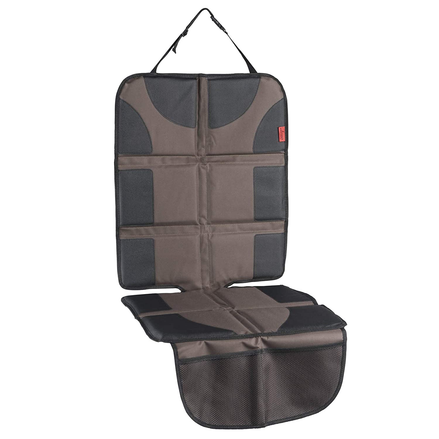 PVC Leather Reinforced Corners /& 2 Large Pockets for Handy Storage Car Seat Protector with Thickest Padding Featuring XL Size Best Coverage Available Waterproof 600D Fabric Durable