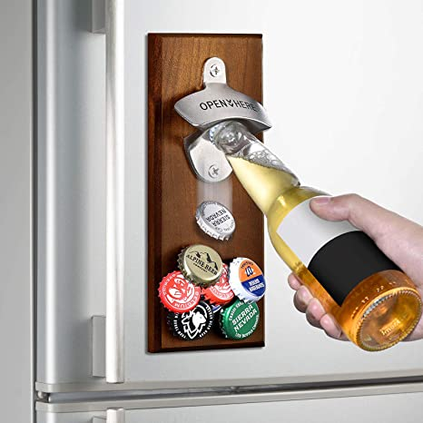 Amazon Com Gifts For Men Dad Wall Mounted Magnetic Bottle Opener Unique Beer Valentines Day Gift Ideas For Him Boyfriend Husband Grandpa Uncle Cool Gadgets Christmas Stocking Stuffers Birthday Anniversary Kitchen Dining