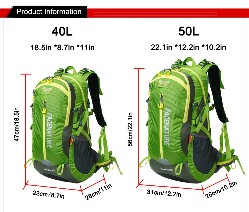 Étanche De Air Sac Facenature Plein Adventure Camping 40l Randonnée À Sports Léger 50l Travel Dos EH29IYWDe