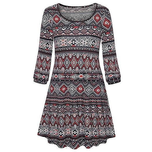 41ef5252094800 Amazon.com: iZHH Womens Dress Long Sleeve O Neck Floral Tops Ladies Summer  T-Shirt Blouse: Clothing