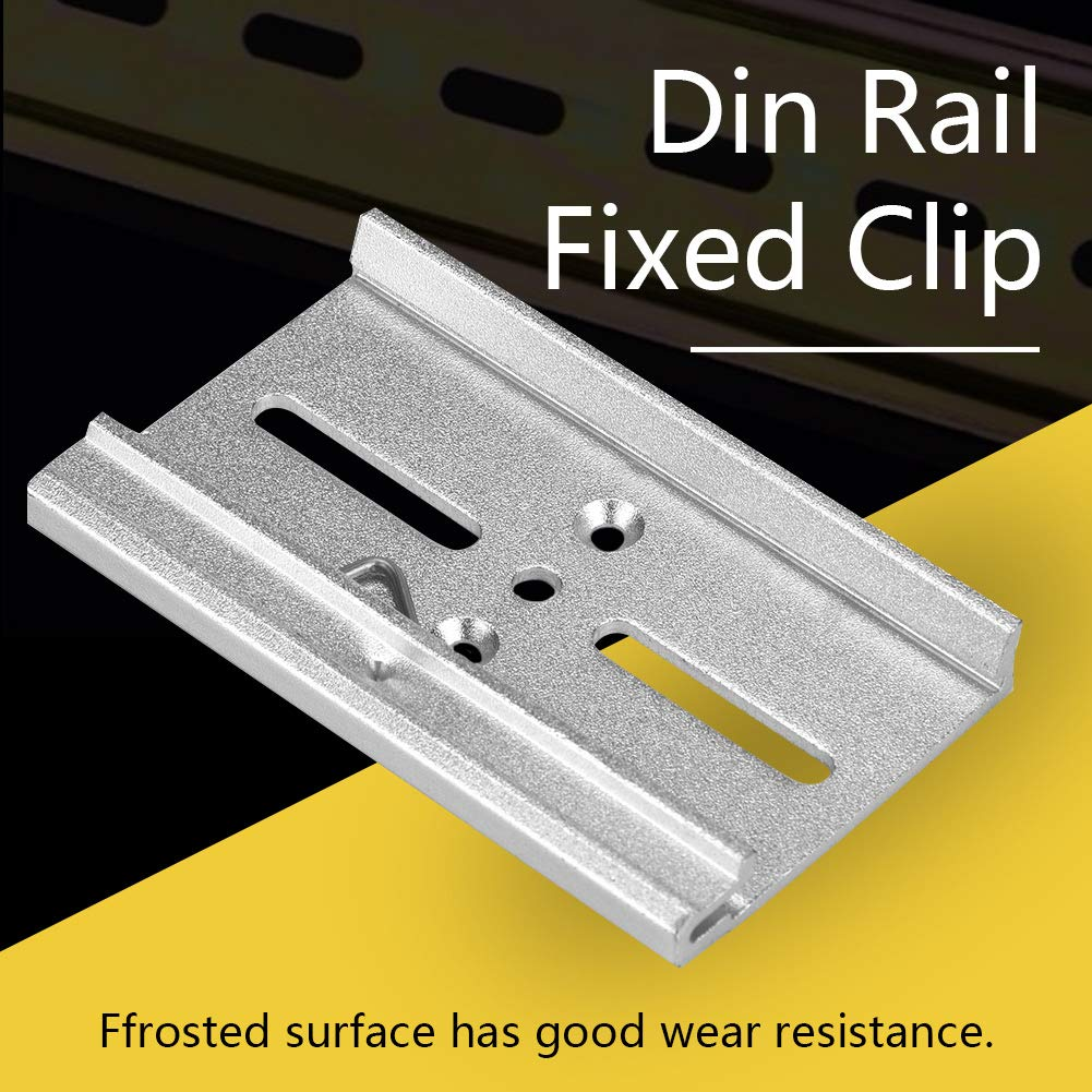 #7 Din Rail Fixed Clamp 35mm Aluminum Fasten Clip for Relay Mounting Suitable for Fixing 35mm Din Rail