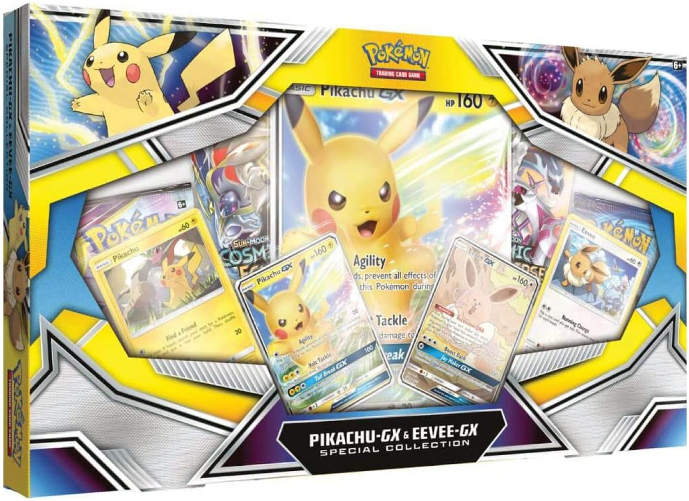 Amazon Com Pokemon Tcg Pikachu Gx Eevee Gx Special Collection