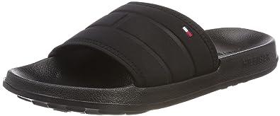 69a4e1dea5d Tommy Hilfiger Corporate Flag Pool Slide Chaussures de Plage   Piscine Homme