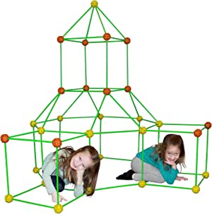 Funphix Fort 154 Pc Set for Supersized Glow in The Dark Fort Building - Encourages Teamwork, Stimulates Imagination for Age 5+