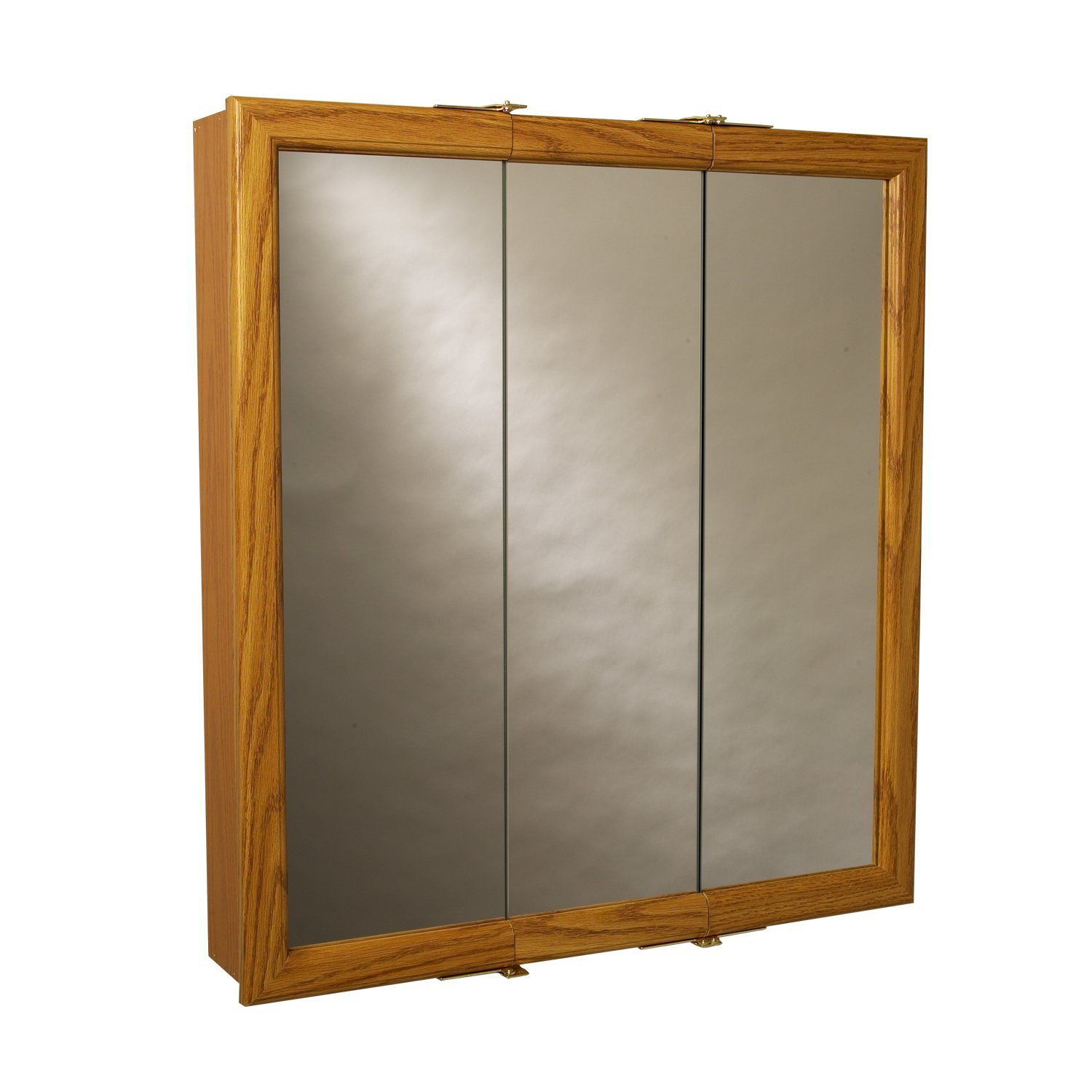 Zenith Bathroom Cabinets: Zenith Products K30 Wood Tri-View Medicine Cabinet