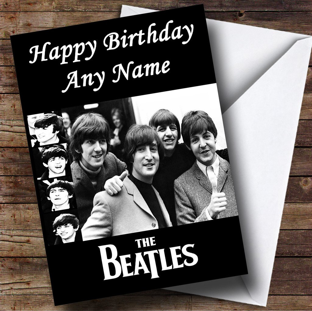 Personalised The Beatles Birthday Card Amazoncouk Office Products – Beatles Birthday Cards