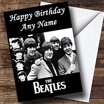 Personalised the beatles birthday card amazon office products personalised the beatles birthday card m4hsunfo