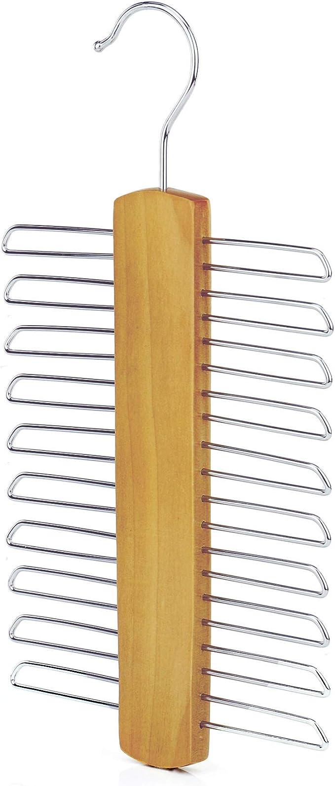 Set of Two Tie Rack /& Accessory Organizer Hanger