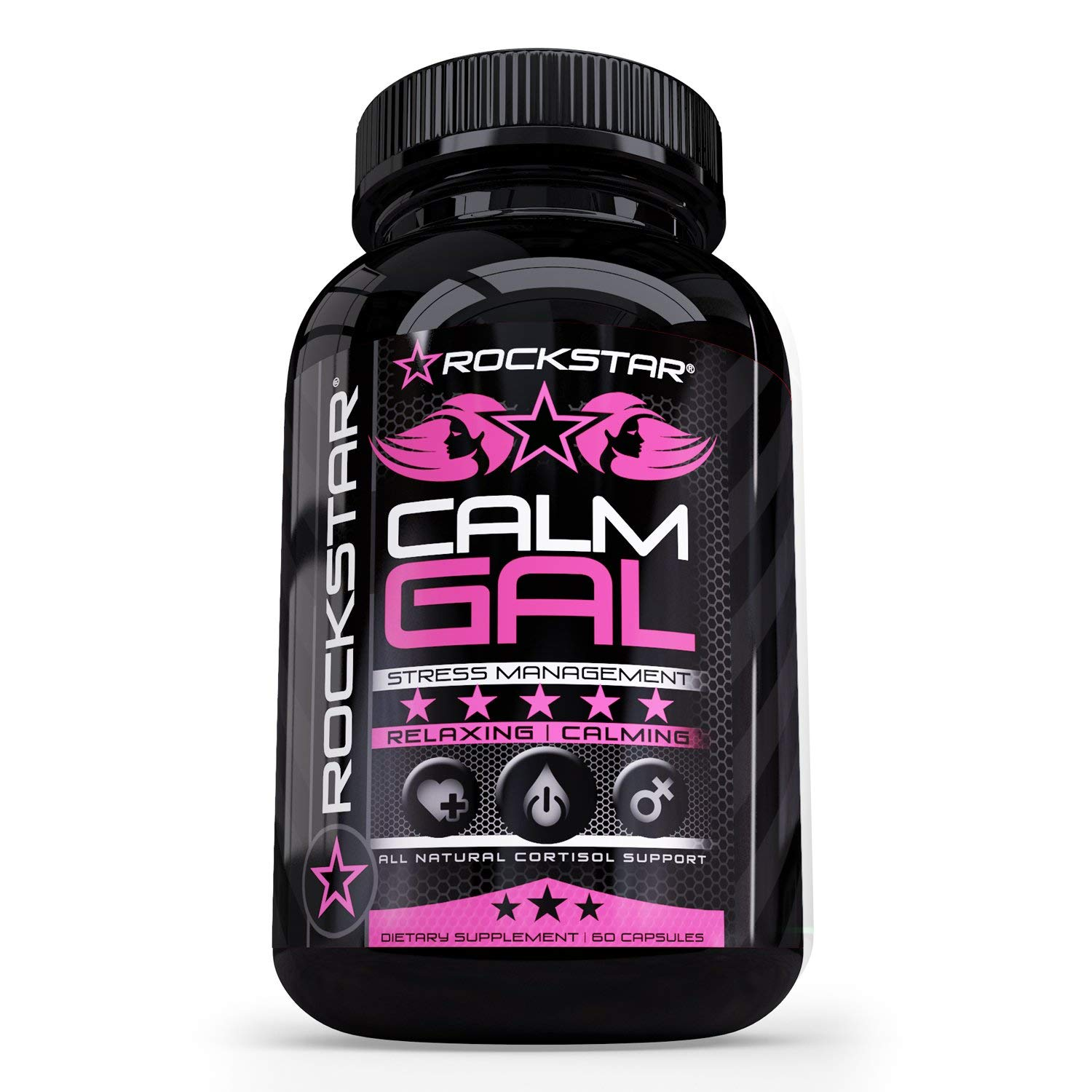 Calm Gal by Rockstar - Stress & Anxiety Support Supplement, Herbal Blend to Keep Busy Minds Relaxed, Natural Herbal Formula Developed to Promote Calm, Relaxed, Positive Mood