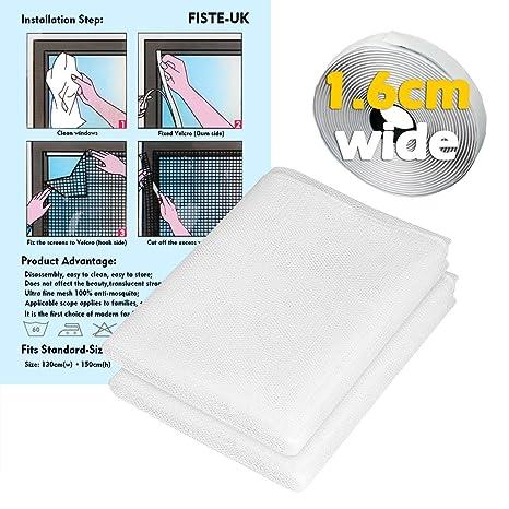 fiste 2 unidades ventana mosquitera red de plástico, 1,3 x 1 ...