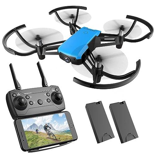 Drone con cámara HD REDPAWZ R020 WiFi FPV RC Drone Quadcopter con cámara de gran angular 720P 120º modo sin cabeza Altitude Devolución de una tecla RTF Drone para niños
