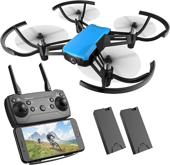 REDPAWZ Drone con cámara HD, R020 WiFi FPV RC Drone Quadcopter con cámara de Gran Angular 720P 120º, Modo sin Cabeza Altitude Devolución de una tecla RTF Drone para niños: Amazon.es: Juguetes