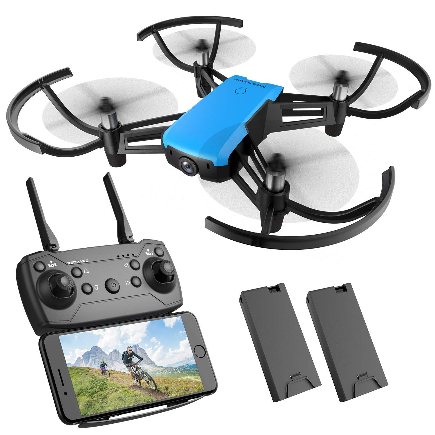 R020 REDPAWZ Drone With Camera, R020 RC Drone Mini Quadcopter Wifi FPV Drone 2.4G Racing Drone Altitude Hold Gravity Sensor with 720P HD Wide Angle Camera RTF Headless Mode One Key Takeoff Landing