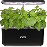 iDOO Hydroponics Growing System, Indoor Herb Garden Starter Kit with LED Grow Light, Smart Garden Planter for Home Kitchen, A