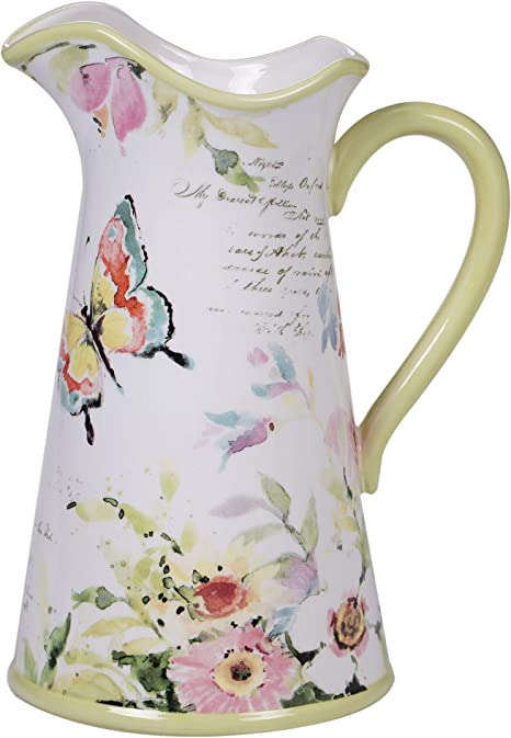 Amazon Com Certified International Spring Meadows Pitcher 3 Qt Servware Serving Acessories Multicolred Carafes Pitchers