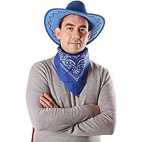 Carnavalife Sombrero Cowboy de Vaquero con Pañuelo Bandanas Paisley de Algodón Toy Story Western Disfraz para Adulto y…