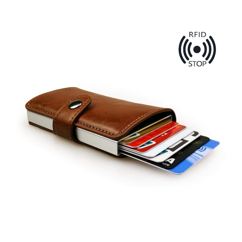 sciuU Cartera Tarjeta de Crédito, Cartera de Aleación de ...