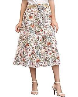 aa7870c7d4239c Haililais Femme Jupe en ÉTÉ Lache Jupe Mousseline Fashion Jupe Mi ...