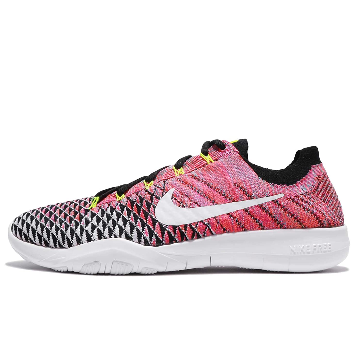 reputable site ca158 9d701 Amazon.com   Nike Women s WMNS Free TR Flyknit 2, Black White-Volt-Deadly  Pink, 6 M US   Road Running