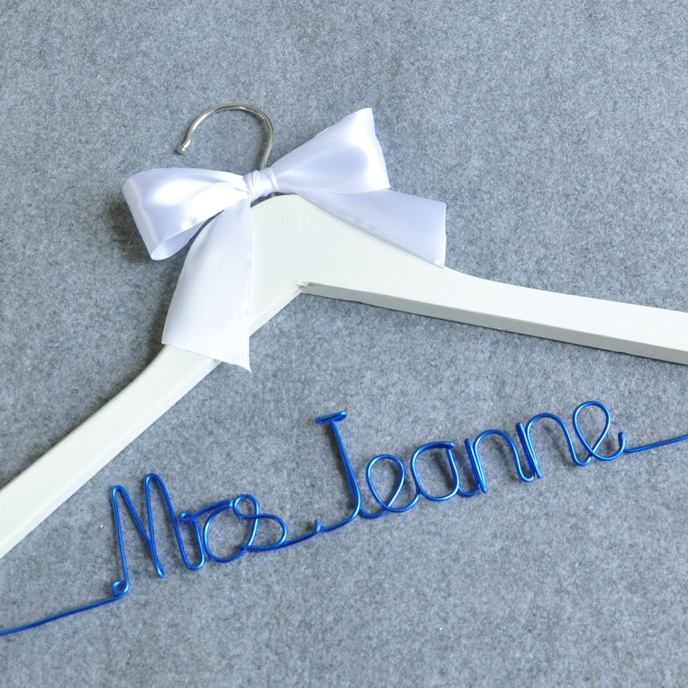 Amazon.com: Personalized Wedding Hanger, Bridesmaid Gifts, Name ...