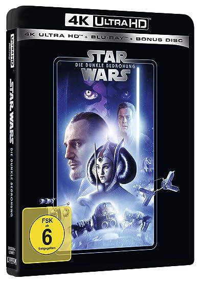 Star Wars Episode 1 - Dunkle Bedrohung 4K Ultra HD + Blu-ray 2D + Bonus- Blu-ray Alemania Blu-ray: Amazon.es: Oz, Frank, McDiarmid, Ian, August, Pernilla, Neeson, Liam, Lloyd, Jake, Portman, Natalie, McGregor, Ewan,