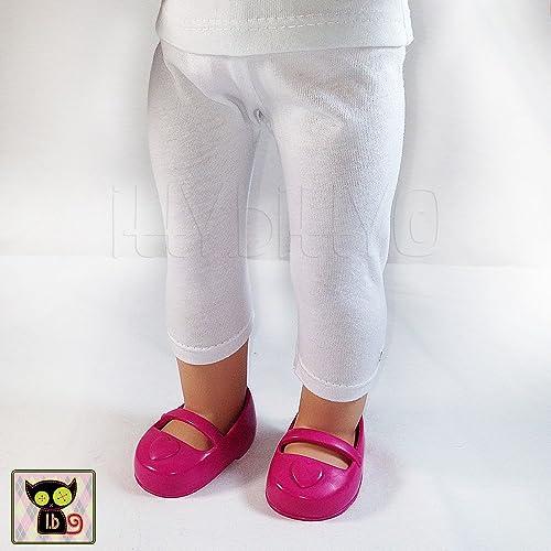 10d301541778b Amazon.com: Basic White Leggings for 18 Inch Dolls: Handmade