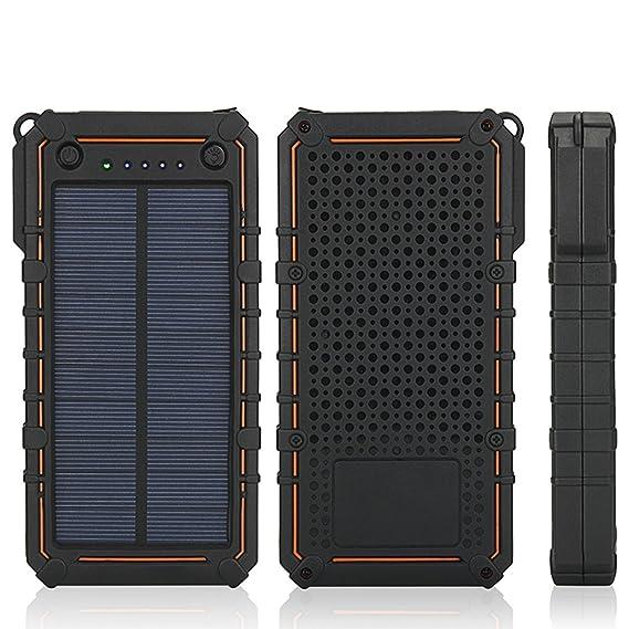 Amazon.com: Cargador solar, portátil de 15600 mAh, batería ...