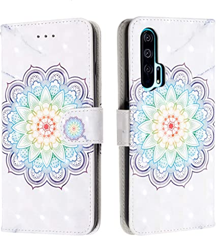 Huawei Honor 20 Pro Funda,Patrón 3D Estuche Silicona Case Cuero PU Billetera Cover Carcasa Cierre Magnético Caso Soporte Tapa Cubrir Ranuras Tarjetas Shell para Huawei Honor 20 Pro (Mandala): Amazon.es: Electrónica