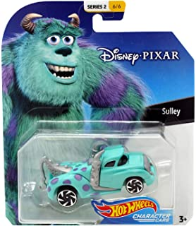 Sulley Monsters Inc Hot Wheels Disney Character Cars Diecast Car 1:64 Scale
