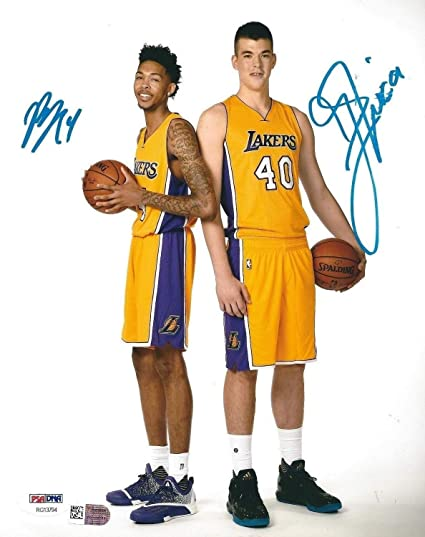 8b7a7bfc089 Ivica Zubac And Brandon Ingram Autographed Signed Memorabilia Lakers  Basketball 8x10 Photograph PSA/DNA/Fanatics at Amazon's Sports Collectibles  Store